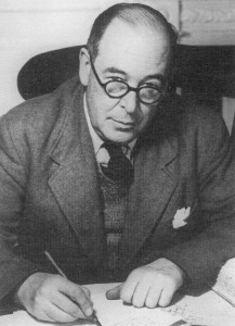 C.S. Lewis, author of such books as The Chronicles of Narnia, Mere Christianity, and The Space Trilogy.