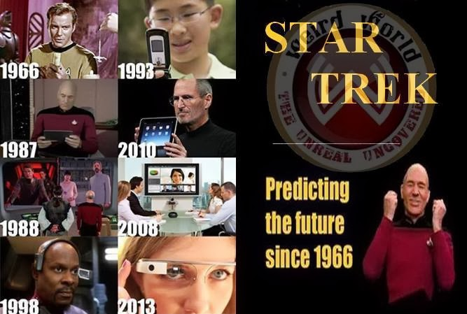 Capt. Kirk inspired your cell phone. Capt. Picard inspired your iPad. You owe them. :P