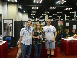 """This is Ben and Ashley Davis. I befriended them through Facebook (mostly), and they stopped by and bought """"Pandora's Box."""" Wonderful people!"""