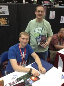 "My first sale of the con! A gentleman named Scott Blankenship purchased ""Destroyer"" and ""The Day After."""