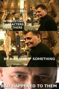 While I don't hate Steven Moffat, he certainly has a reputation for torturing characters (and audiences).  (Image courtesy of Pinterest).