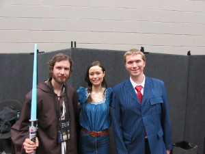 Eric (far left) and me (far right) with Summer Glau.