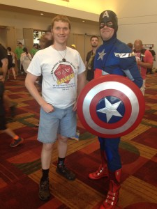 The aforementioned Captain America cosplayer.