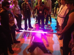 Lightsabre limbo bar!