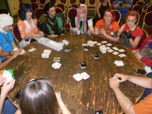 Loki winning at Cards Against Humanity.