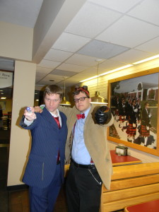 Me with a fellow Whovian cosplayer.