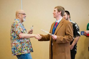 Me meeting George Perez. (Yes, that's my 10th Doctor cosplay).